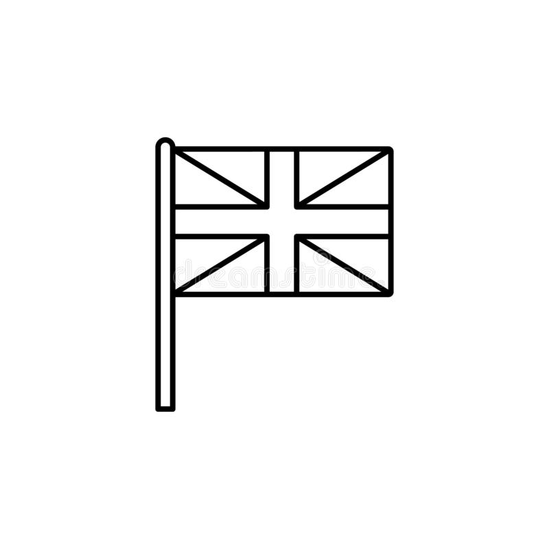 United Kingdom icon. Element of flag icon for mobile concept and web apps. Thin line United Kingdom icon can be used for web and m vector illustration
