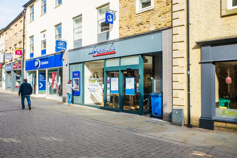 UNITED KINGDOM, LANCASTER - 9TH APRIL 2020 A branch of Nationwide. It is the UKs largest mutual building society. In UK royalty free stock photos