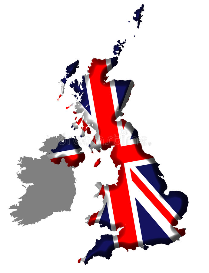 United Kingdom Map royalty free illustration