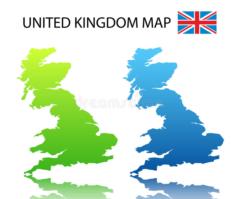 Download United Kingdom map stock vector. Image of illustration - 5941940