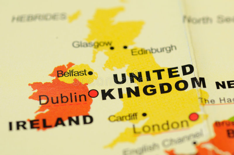 United Kingdom on map