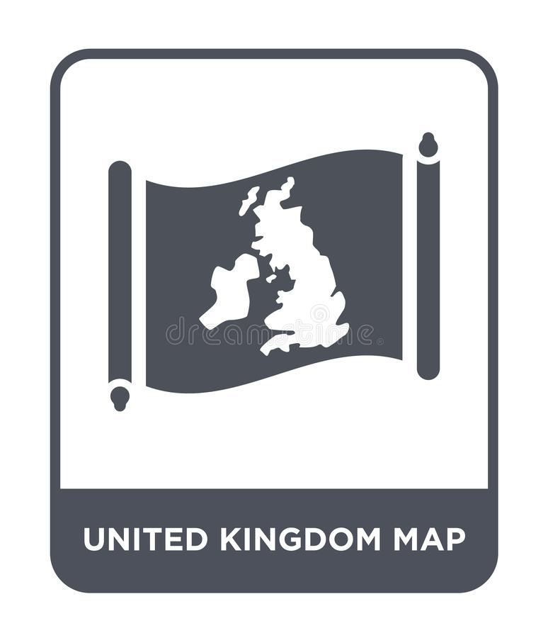 United kingdom map icon in trendy design style. united kingdom map icon isolated on white background. united kingdom map vector. Icon simple and modern flat royalty free illustration