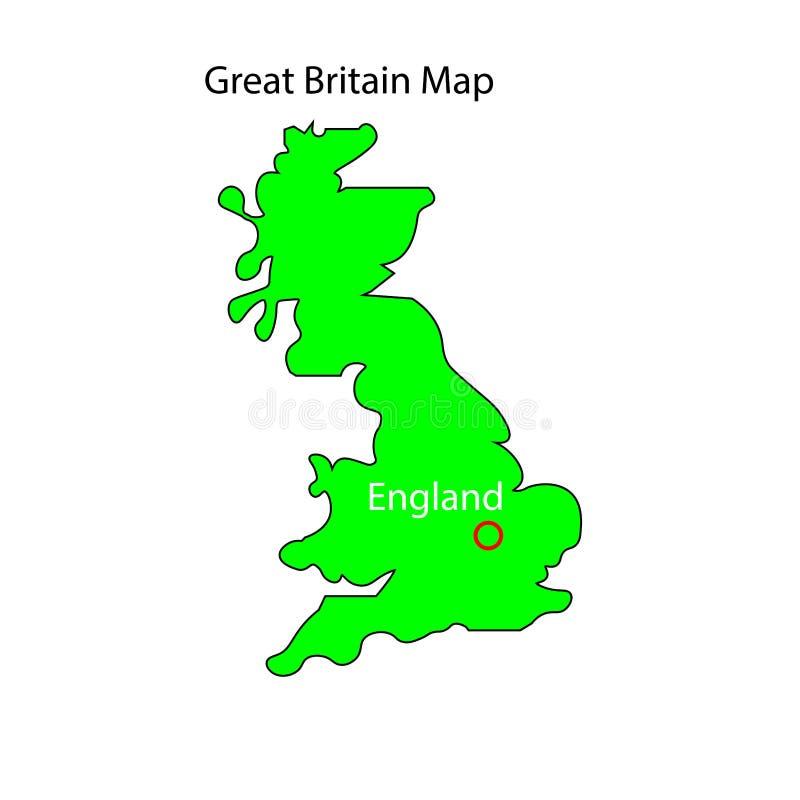 United Kingdom map sign. England. Eps ten royalty free illustration