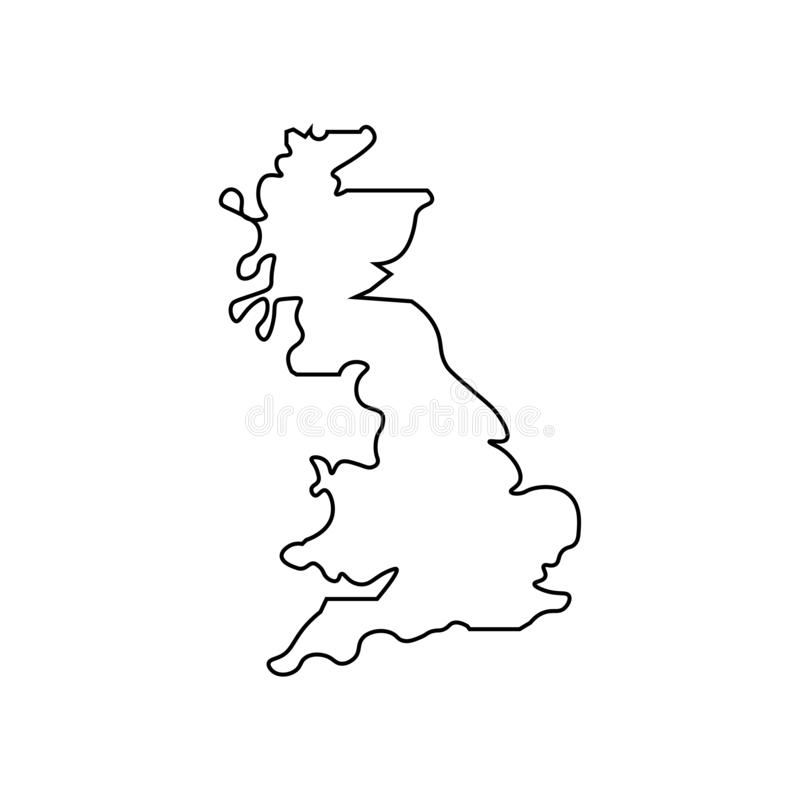 United Kingdom map sign. Thin line vector illustration