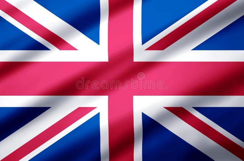 United kingdom realistic flag illustration. royalty free illustration