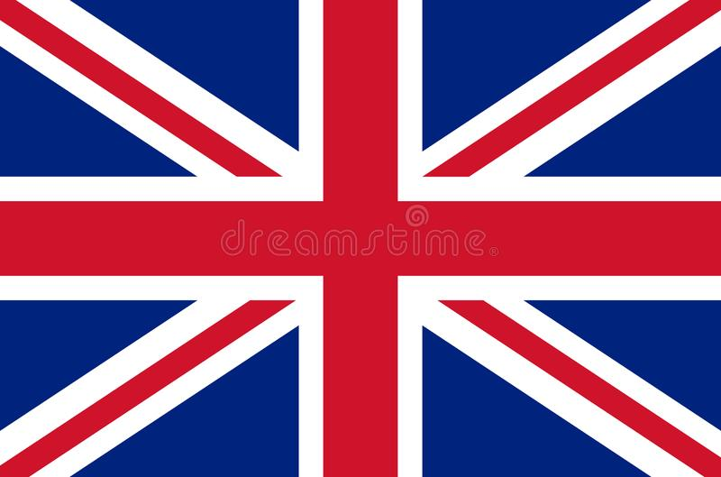 United kingdom national flag in accurate colors, official flag of great britain in exact colors,. Real colors royalty free illustration