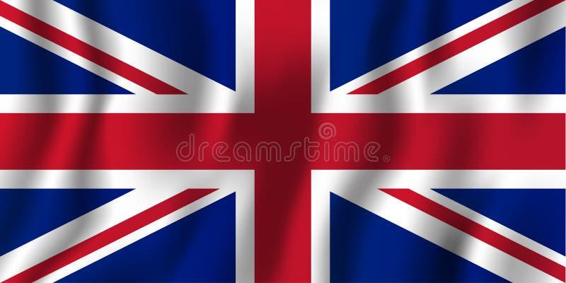 United Kingdom realistic waving flag vector illustration. National country background symbol. Independence day vector illustration