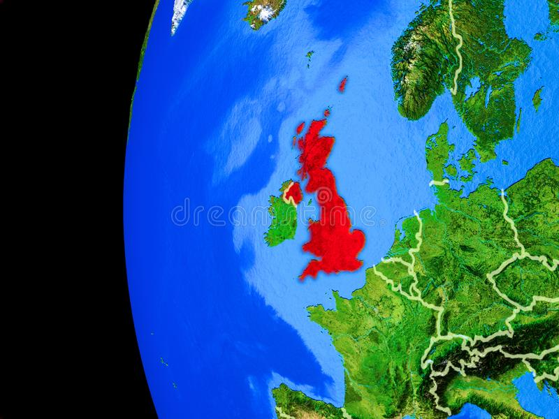 United Kingdom from space vector illustration