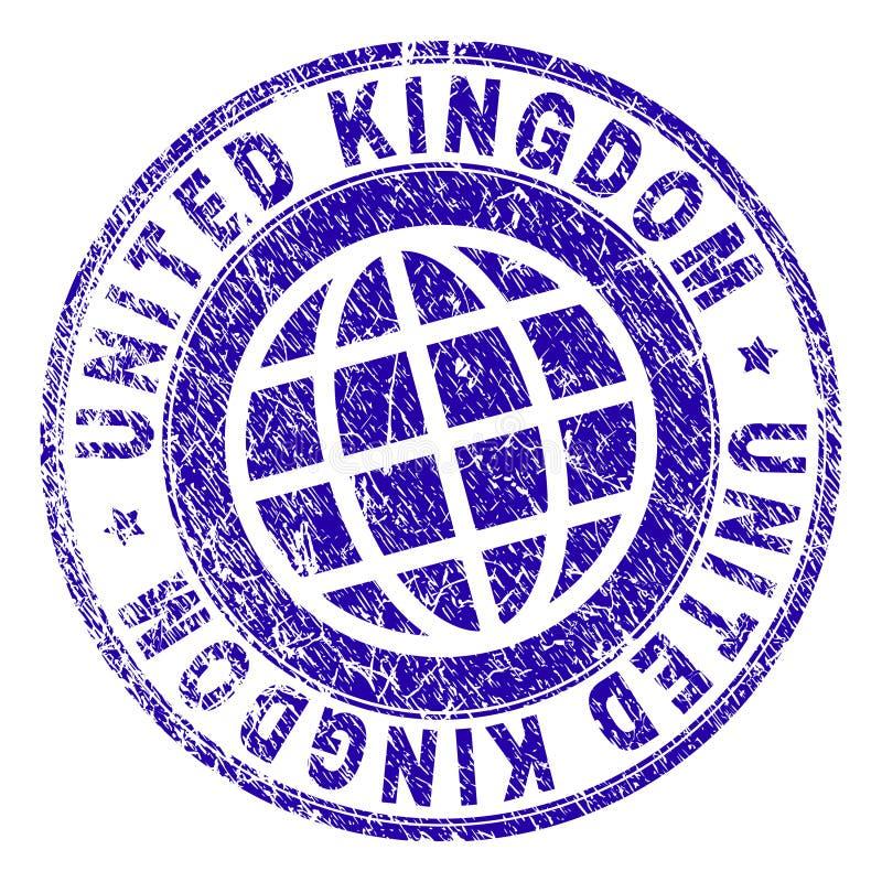 Scratched Textured UNITED KINGDOM Stamp Seal vector illustration