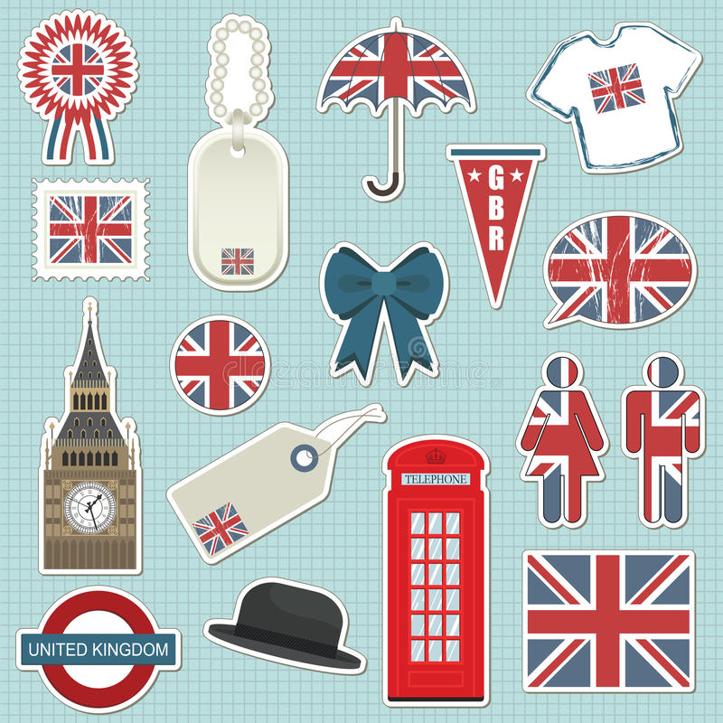 Download United kingdom stickers stock vector. Image of britain - 12493072