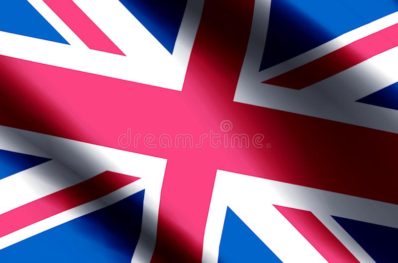 United Kingdom. Stylish waving and closeup flag illustration. Perfect for background or texture purposes vector illustration