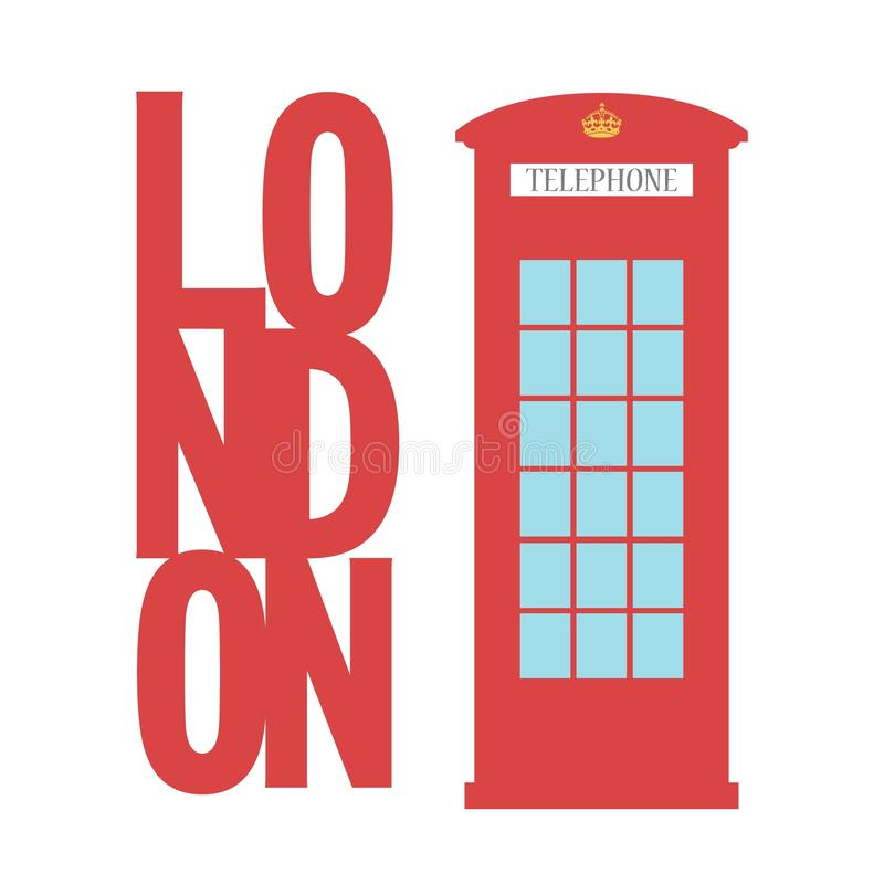 United Kingdom Telephone Box London public call vector word concept. United Kingdom Telephone Box London public call vector London word vector illustration