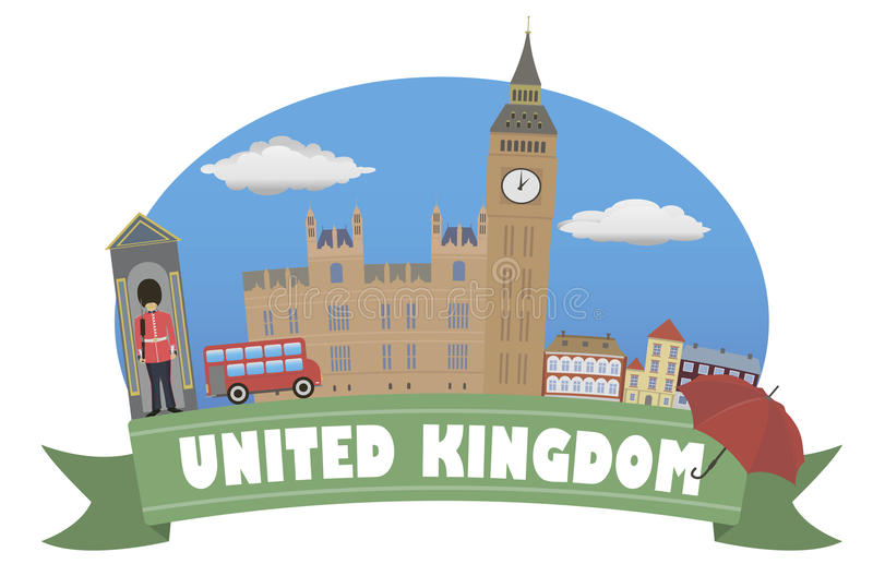 United Kingdom. Tourism and travel vector illustration