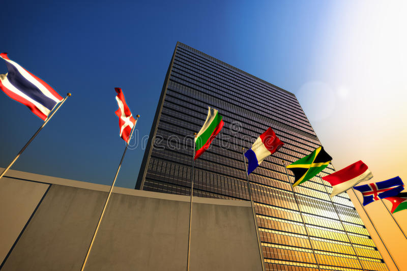United Nations imagens de stock royalty free