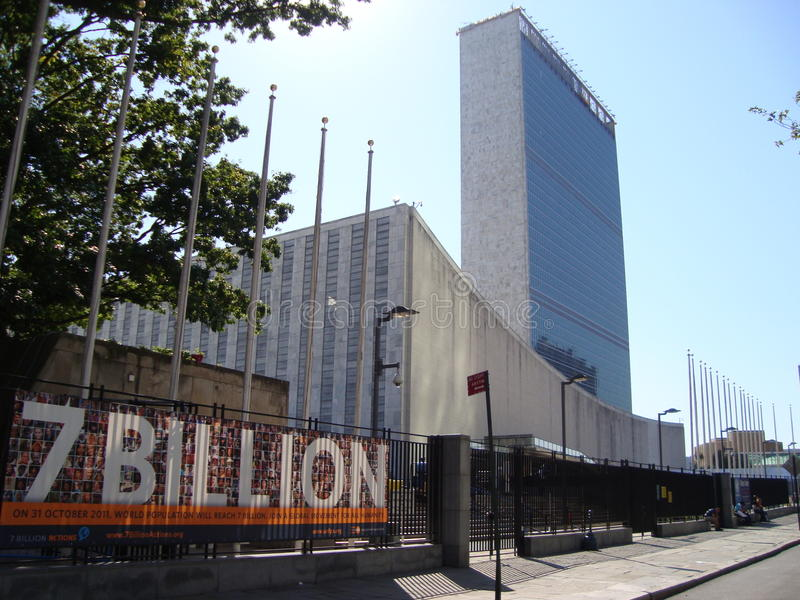 United Nations for 7 Billion world population royalty free stock photos