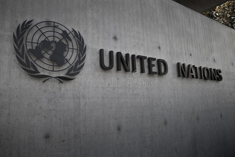 United Nations Badge in Geneva royalty free stock photography