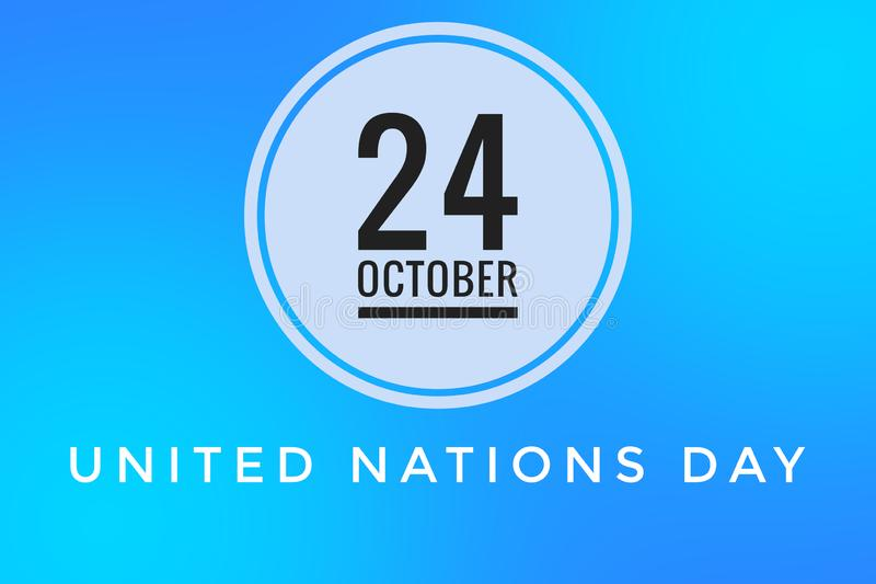 United Nations Day for 24 October Blue background royalty-vrije illustratie