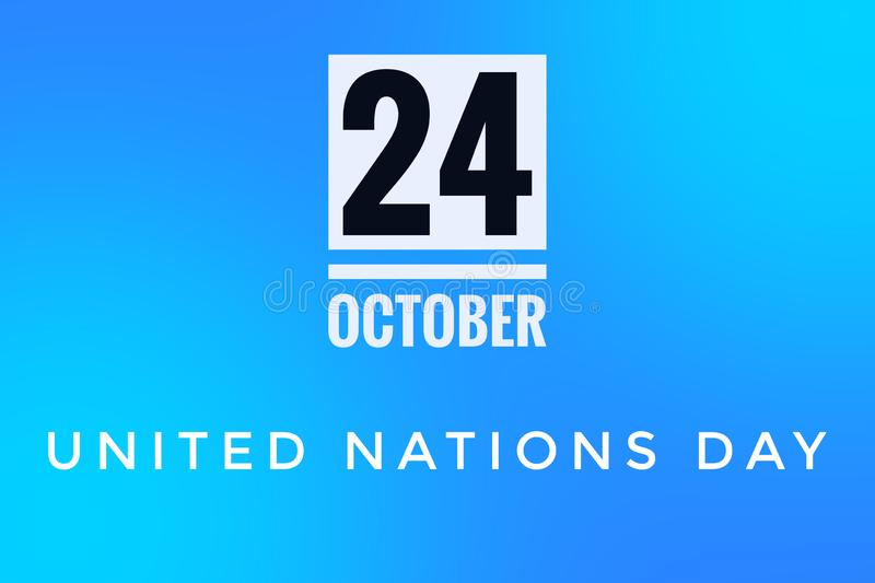 United Nations Day for 24 October Blue background stock illustratie