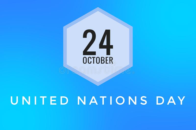 United Nations Day for 24 October Blue background vector illustratie