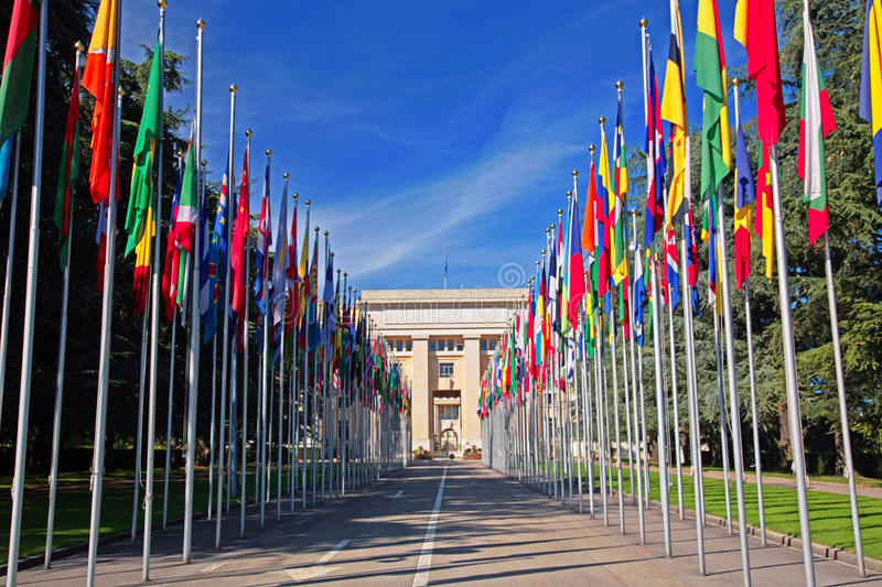 United Nations em Genebra foto de stock royalty free