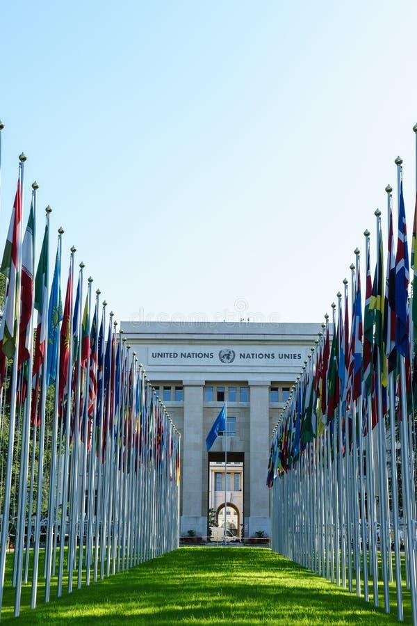 United Nations em Genebra fotos de stock