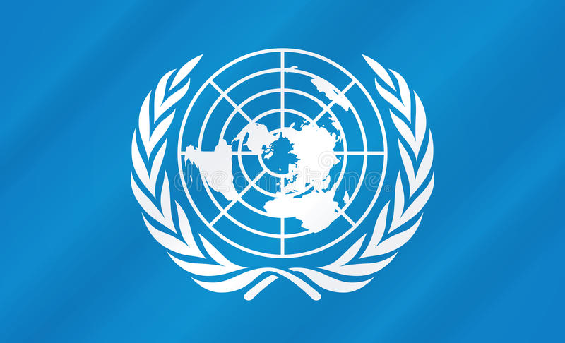 United Nations Flag royalty free illustration