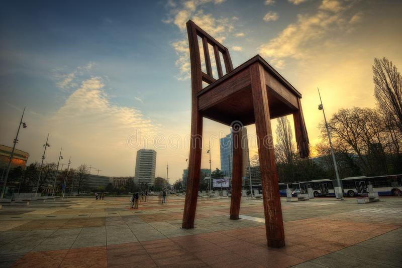 United Nations Geneva Chair royalty free stock photo