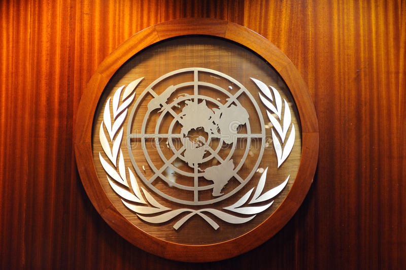 Download United Nations logo editorial image. Image of nations - 19216410
