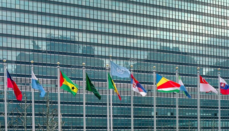 Download United Nations Flags New York USA Stock Image - Image: 4490751