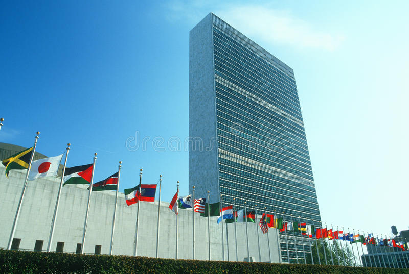 United Nations som bygger, NY, NY royaltyfri fotografi