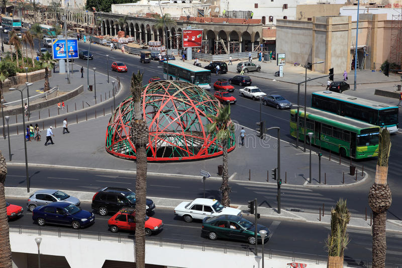United Nations Square in Casablanca stock images