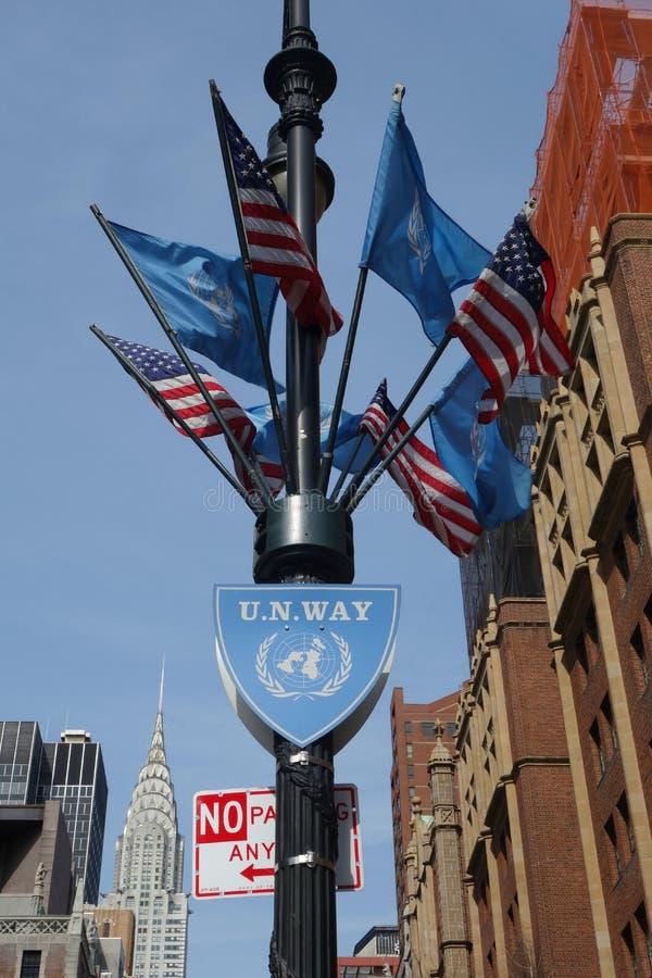 United Nations Way royalty free stock photo