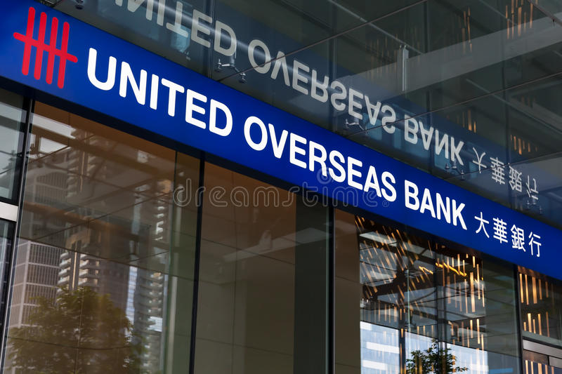 United Overseas Bank Branch Office Editorial Photo