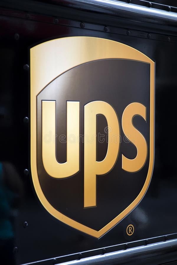 United Parcel Service royalty free stock photo