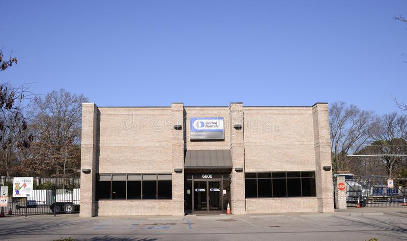United Rentals, Memphis, TN. United Rentals provides 3300+ equipment and tool classes for industrial & construction sites across the United States and Canada stock photography
