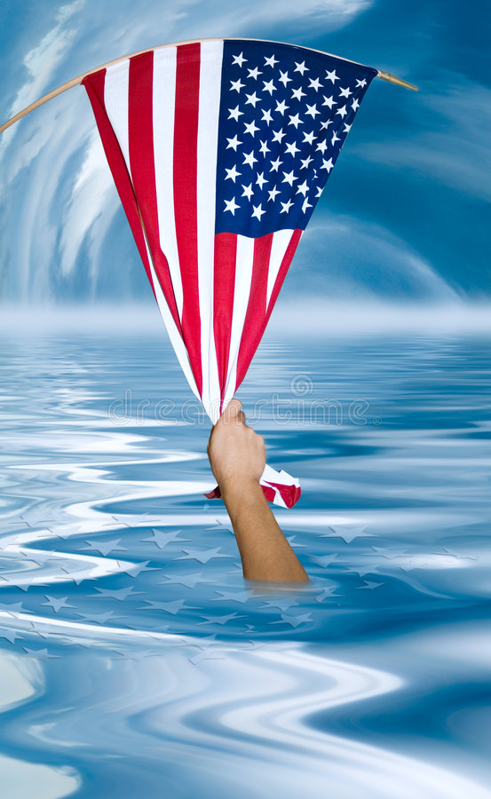 Free United Stares Flag Helping Hand Stock Photo - 3446020