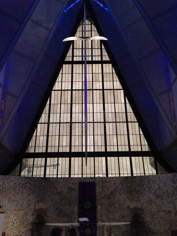 United States Air Force Cadet Chapel. Air Force Academy, Colorado Springs, Colorado royalty free stock photo