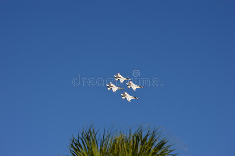 United States Air Force Thunderbirds stock photo