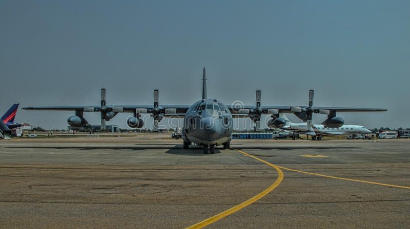 United States Airforce Hercules C-130. Airplane royalty free stock photography