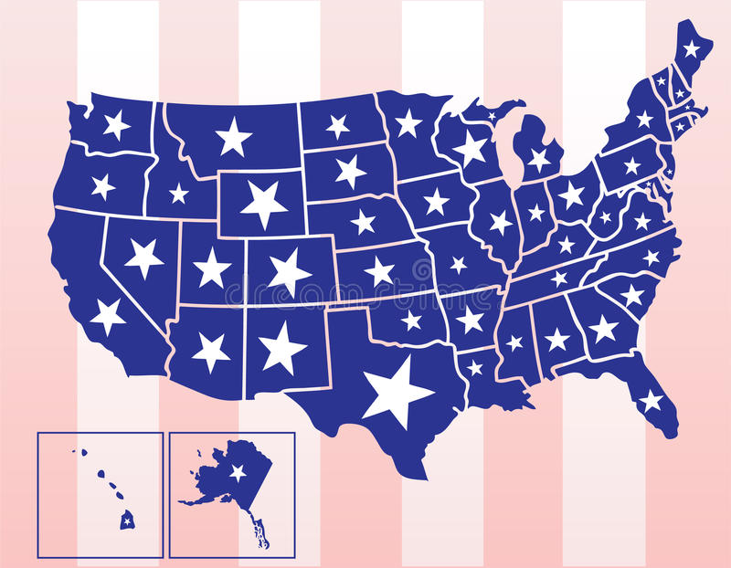 Download The United States Of America Stock Vector - Image: 14238450