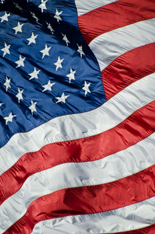 United States of America. 's pride; the flag royalty free stock photos