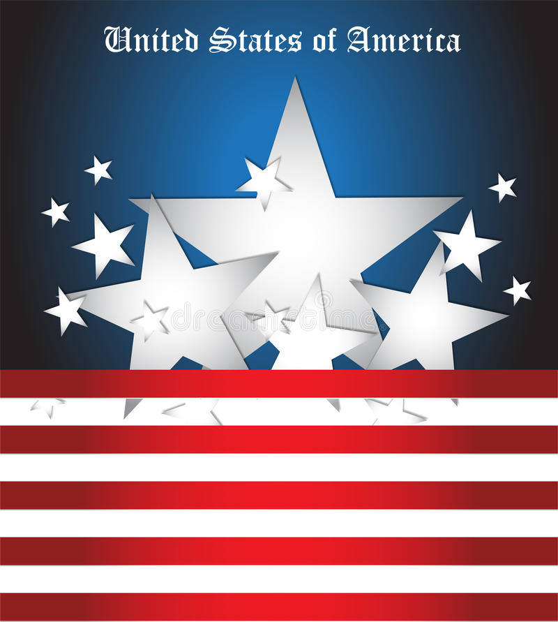 Download United States of America stock illustration. Image of ribbons - 33483212
