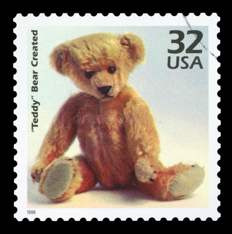 US - Postage Stamp. UNITED STATES OF AMERICA - CIRCA 1998: a postage stamp printed in USA showing an image of a Teddy Bear, circa 1998 royalty free stock photo