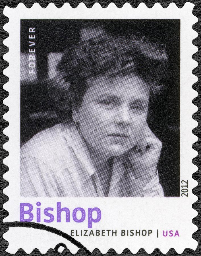 USA - 2012: shows Elizabeth Bishop 1911-1979, American poet, novelist, and short story writer,. UNITED STATES OF AMERICA - CIRCA 2012: A stamp printed in USA royalty free stock photos