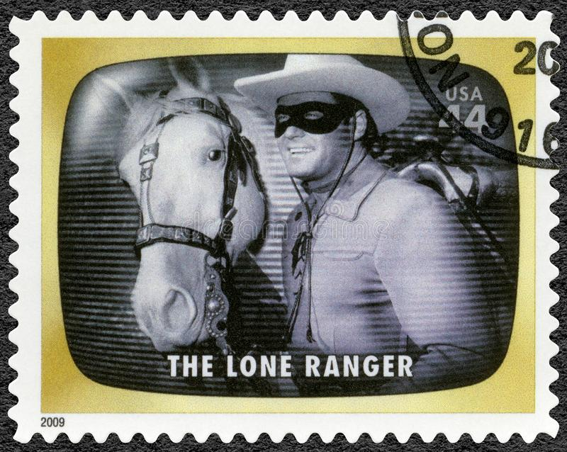 USA - 2009: shows The Lone Ranger, Early TV Memory royalty free stock image