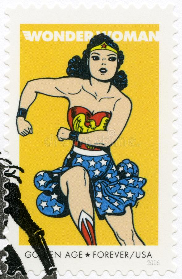 USA - 2016: shows Wonder Woman, series the Seventy-five years Comics royalty free stock photography