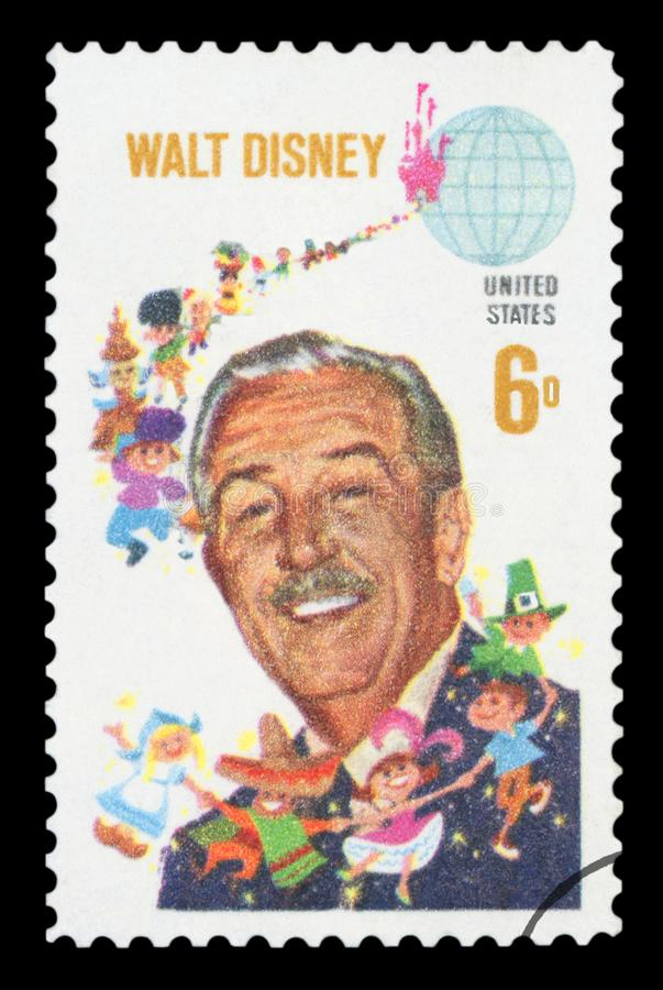 US - Postage Stamp. UNITED STATES OF AMERICA - CIRCA 1968: A used postage stamp from the USA, depicting an image of American animator, voice actor and film stock images