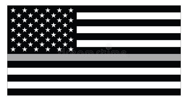 United states of America corrections flag stock illustration