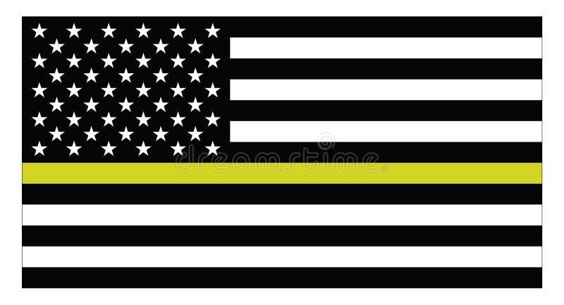 United states of America Dispatchers flag royalty free illustration