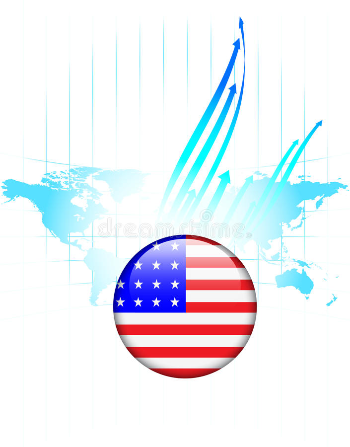United states of america flag button world map stock illustration download united states of america flag button world map stock illustration illustration of arrows gumiabroncs Images